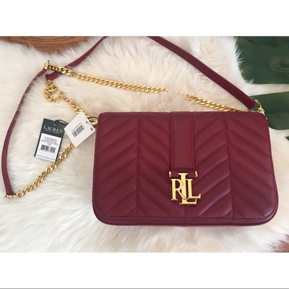 Ralph Lauren Carrington Brenda Red Shoulder Bag 6a251a2e20c8a